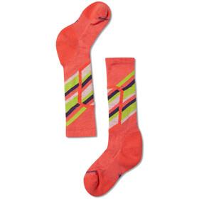 Smartwool Ski Racer Chaussettes Enfant, bright coral